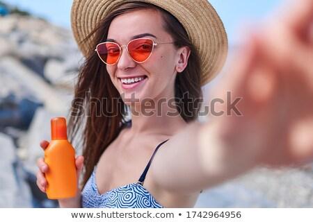 ayarlamak · kadın · renkli · bikini · plaj · elbise - stok fotoğraf © robuart