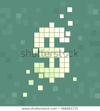 Dollarteken kunst illustratie blokken Stockfoto © lenm