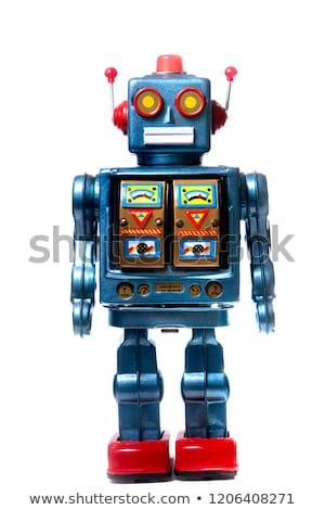 Robot retro speelgoed geïsoleerd vintage cyborg Stockfoto © popaukropa