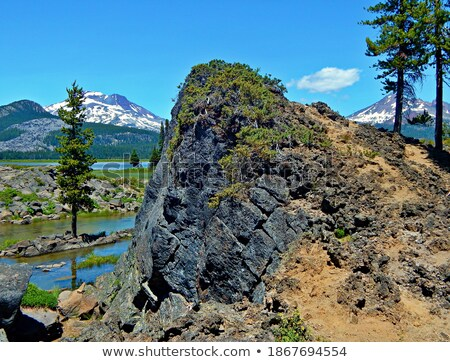 Broken Rock From a Lava Lake Stock photo © wildnerdpix