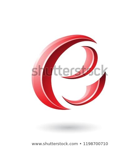 красный полумесяц форма вектора Сток-фото © cidepix