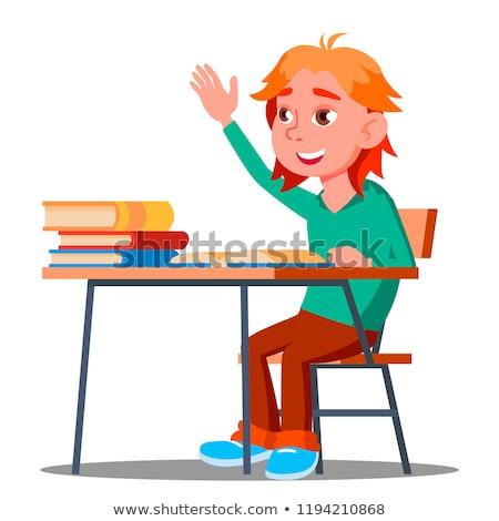 kolorowy · cartoon · chłopca · książki · szkoły · wektora - zdjęcia stock © pikepicture