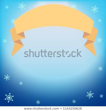 Winter vector Blauw licht effect projector Stockfoto © heliburcka