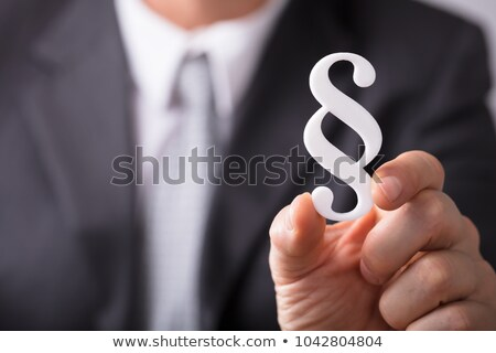 Close-up Of A White Paragraph Symbol Stock photo © AndreyPopov