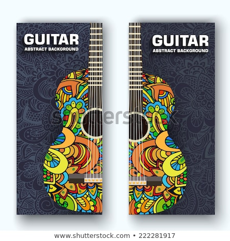Abstract retro music guitar on the banners of the ornament. Vector illustration concept design Stock photo © Linetale