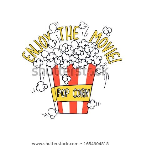 popcorn · finestra · dettagliato · isolato · bianco · eps10 - foto d'archivio © pikepicture