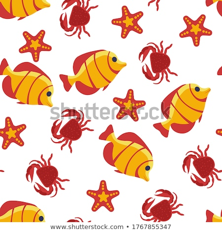 Stock photo: Lobster and Marine Dwellers Vector Illustration