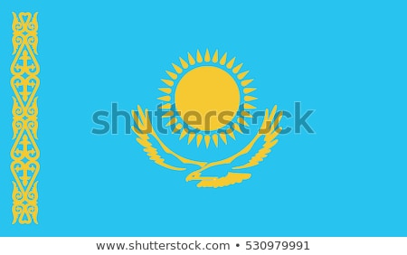 kazakhstan flag vector illustration stock photo © butenkow