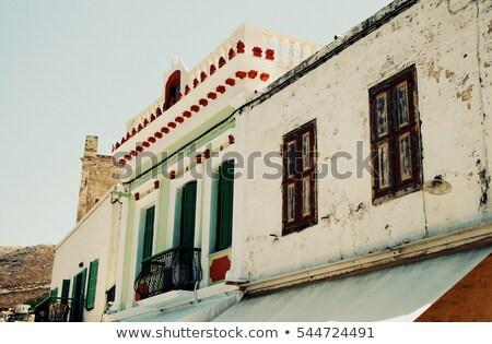 Régi ház Athén régi épület Görögország Stock fotó © fazon1