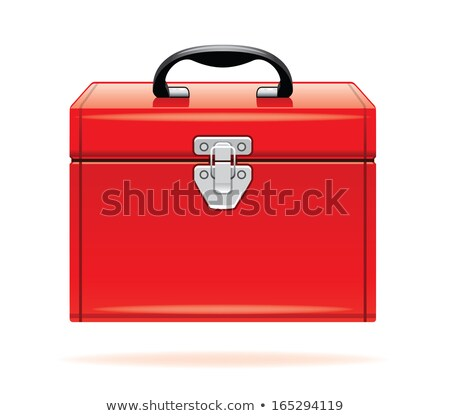 Сток-фото: Red Toolbox With Tools
