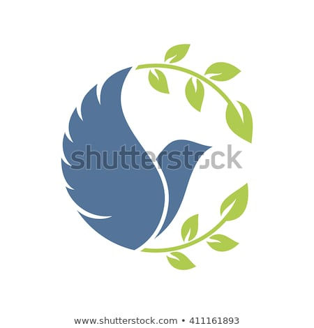 Icona colomba oliva illustrazione uccello Foto d'archivio © adrenalina