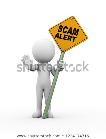 3d man make money online scam alert Stock photo © nasirkhan