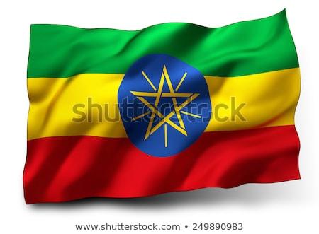 Ethiopiër vlag geïsoleerd witte Ethiopië Stockfoto © daboost