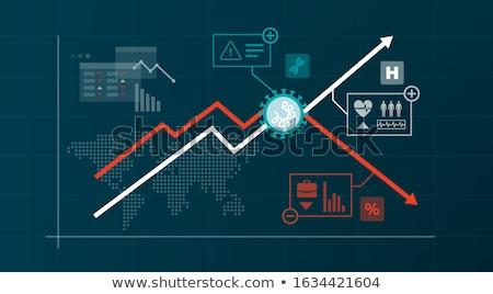 бизнес-графика вверх синий стрелка роста год Сток-фото © Oakozhan