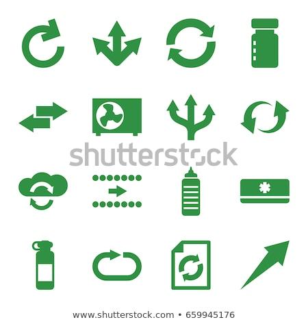 Cloud sync icon set, circle arrows. vector illustration isolated on white background. Stock photo © kyryloff