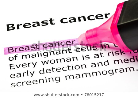 'Breast cancer' highlighted in pink Stock photo © ivelin