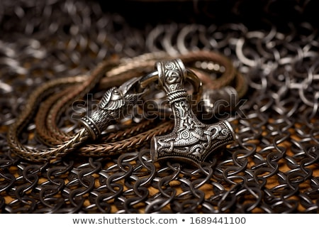 Mitoloji çekiç nesne viking yaş güçlü Stok fotoğraf © Lightsource