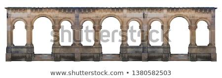 Tégla kastély fal ablakok öreg csempe Stock fotó © vapi
