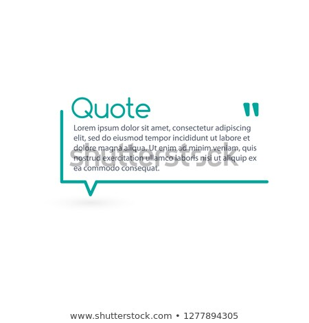 Innovative vector quotation template in quotes. Creative vector banner illustration with a quote in  Stock photo © kyryloff