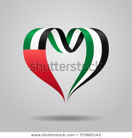 Arap bayrak kalp şekli ikon örnek kalp Stok fotoğraf © colematt