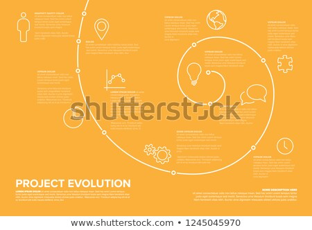 project evolution timeline template stock fotó © orson