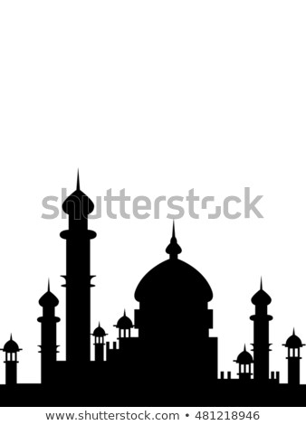 Minaret toren illustratie gebed godsdienst moderne Stockfoto © artisticco