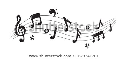 Notes de musique échelle ligne illustration fond art Photo stock © colematt