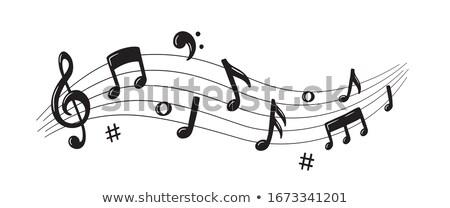 Note musicali scala line illustrazione sfondo arte Foto d'archivio © colematt