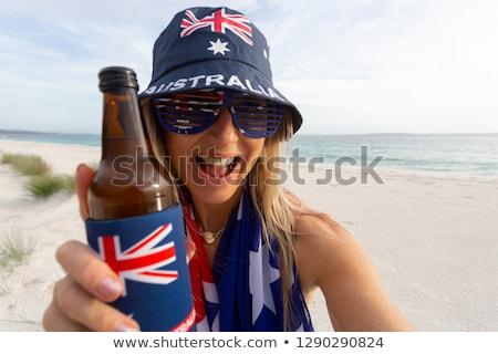 Australisch cultuur lui dag strand meisje Stockfoto © lovleah