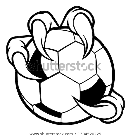 eagle bird monster claw talons holding soccer ball stock photo © krisdog