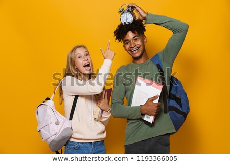 Fotoğraf eğlenceli Öğrenciler adam kadın Stok fotoğraf © deandrobot
