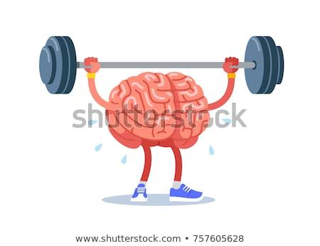 Güçlü beyin ağırlık egzersiz Stok fotoğraf © jossdiim