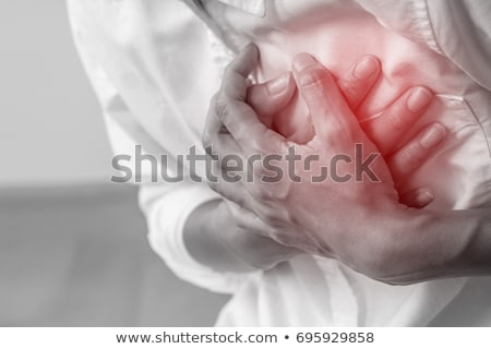 Hartaanval menselijke cardiovasculaire pijn anatomie medische Stockfoto © Lightsource