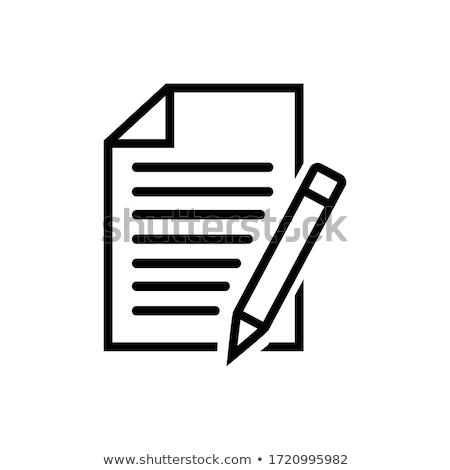 Yazı kalem kâğıt belgeler imza yalıtılmış Stok fotoğraf © robuart