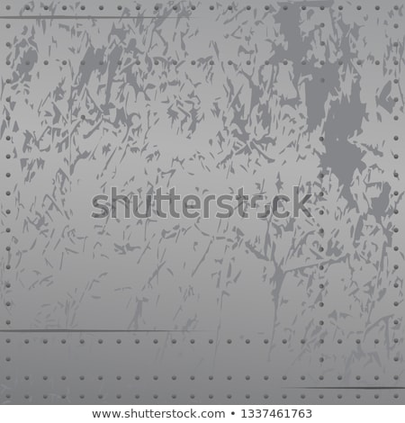 Distressed metal with rivets, scratches, soft cool gradient tones, background vector illustration Stock photo © jeff_hobrath