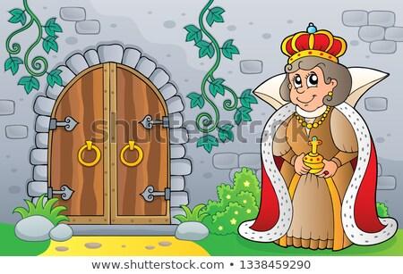 クイーン 古い ドア 画像 幸せ 芸術 ストックフォト © clairev