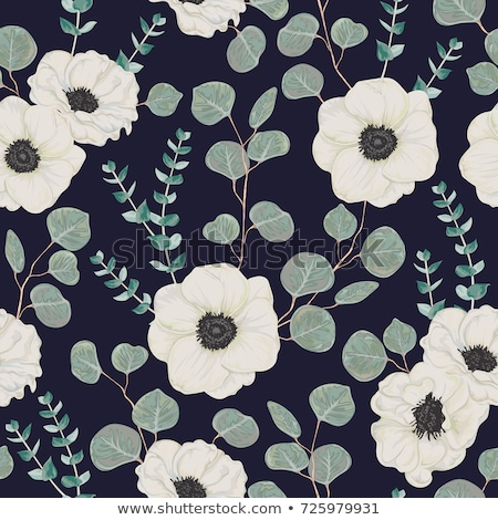 Stock photo: Winter seamless floral patterns