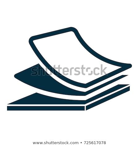 черный · бумаги · икона · иллюстрация · бизнеса · веб - Сток-фото © Blue_daemon
