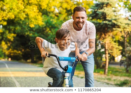 jonge · man · fiets · sport · fitness · zomer · portret - stockfoto © deandrobot
