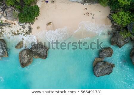 Górę widok z lotu ptaka piękna bali plaży pusty Zdjęcia stock © galitskaya