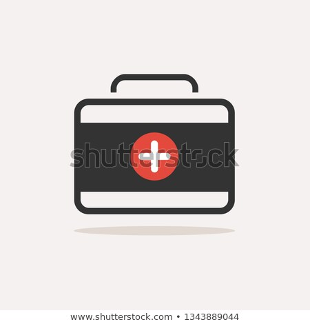 Medicine briefcase color icon with shadow on a beige background Stock photo © Imaagio
