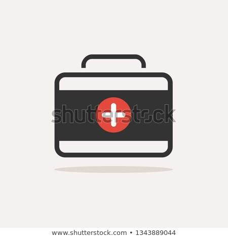 медицина · портфель · цвета · икона · тень · бежевый - Сток-фото © Imaagio