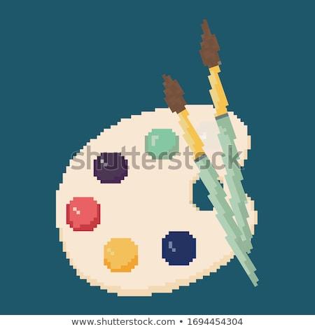 sztuki · palety · dokumentu · rysunek · drewna · projektu - zdjęcia stock © pikepicture