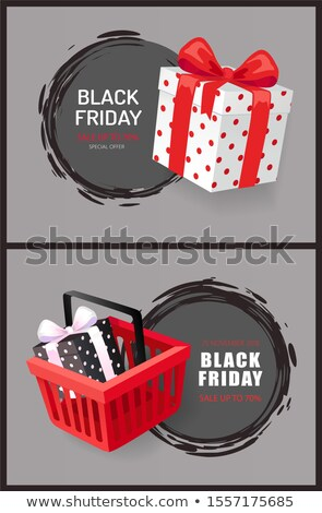 Black Friday Round Labels, Hot November Total Sale Stock photo © robuart