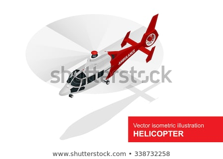 Isometric Medical Helicopter Evacuation. Air Medical Service. Stock photo © tashatuvango