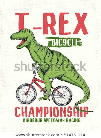 Cartoon dinosaures chanter blanc noir illustration danse Photo stock © bennerdesign
