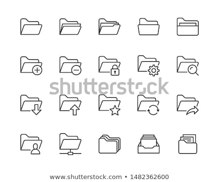 vetor · banco · de · dados · catálogo · negócio · escritório - foto stock © angelp