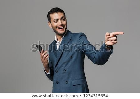imagem · otimista · árabe · homem · 30s · negócio - foto stock © deandrobot