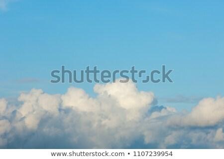 Arancione cielo soffice nubi illustrazione sfondo Foto d'archivio © colematt