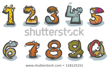 Sevimli fil sıfır numara örnek göz Stok fotoğraf © colematt
